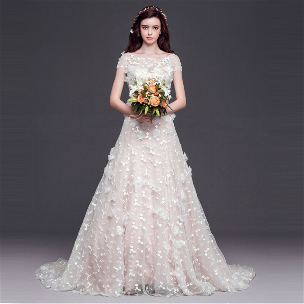 Aliexpress.com : Buy MANSA 2015 Sexy Pearl Wedding Dress With ...