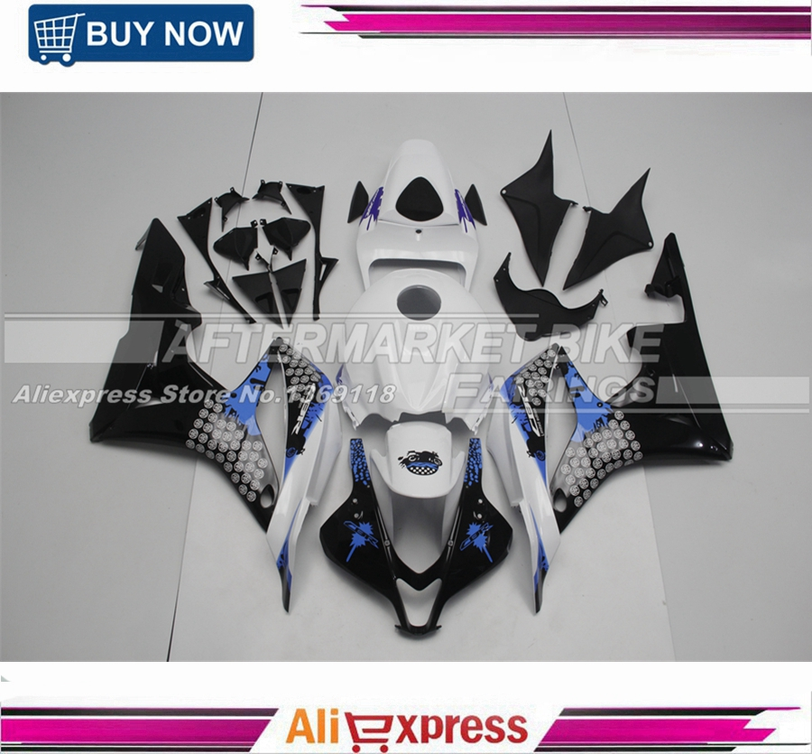 2007 2008 UV Painting Special Stickers Plastic Pieces For Honda F5 07 08 CBR600RR Fairing Kits 100% Fitment for honda cbr600rr 2007 2008 2009 2010 2011 2012 motorbike seat cover cbr 600 rr motorcycle red fairing rear sear cowl cover