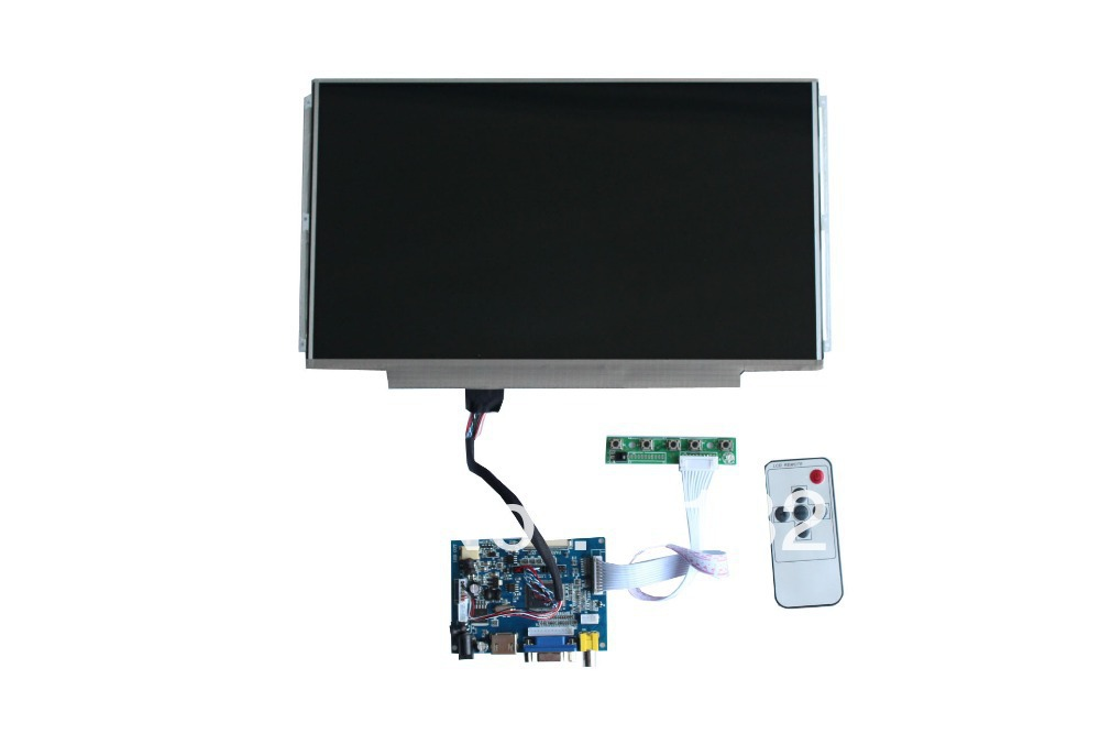 все цены на  HDMI+VGA+2AV  LCD controller  board + LP133WH2-TLGA+LVDS cable +Remote control and receiver  +OSD keypad with cable  онлайн