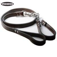 VUGSUCE Rundleer Halsband Leash Leads Set Zachte Handvat voor Medium Grote Honden Touw Leads Duurzaam Tractie Huisdier Product