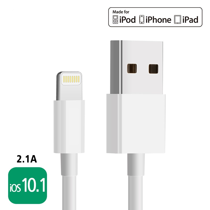 MFi certified 8 pin cable lightning to usb cable data sync charger cable for iPhone 6 6s 5s iPad 4 mini 2 3 Air 2 iOS 8 9
