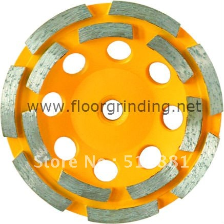 9'' NCCTEC diamond grinding CUP wheel | 230mm Concrete grinding disc plate wheel | double row disk