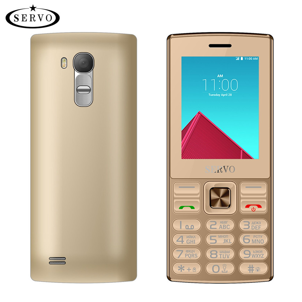 original SERVO V9300 Phone Quad Band 2.4'' screen Dual SIM Cards cellphones Bluetooth Flashlight MP3 MP4 FM GPRS Russian Language
