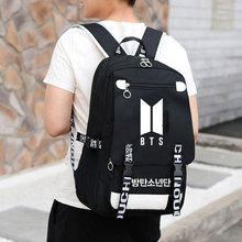 KPOP Bts Backpack For School Teenagers Fashion Zipper Bags Laptop Backpack Boy Girls Bookbag Mochila Backpacks Woman 2018