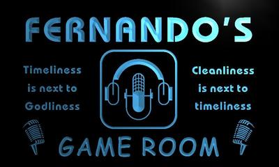 x0237-tm Fernandos Studio Game Room Custom Personalized Name Neon Sign Wholesale Dropshipping On/Off Switch 7 Colors DHL