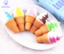 Slow Rebound Simulation Torch uhoMEY Soft Jumbo Ice cream Bread Squishy Colorful Cones Cellphone Gifts