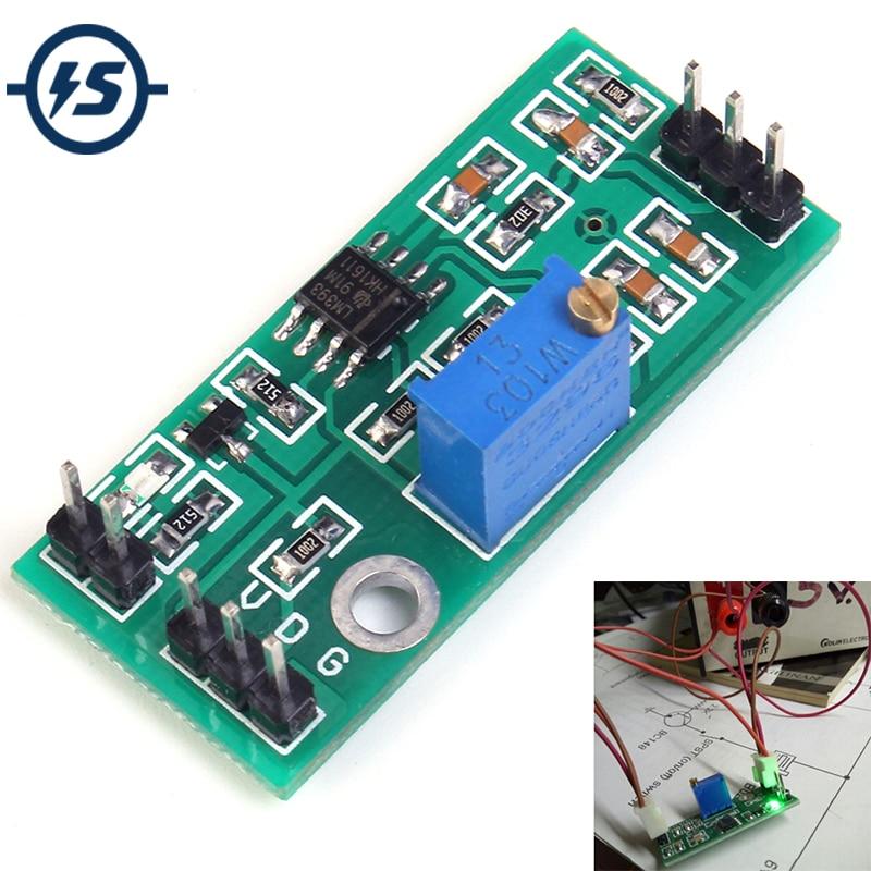 LM393 Voltage Comparator Module Signal Waveform Adjustable High Low Level/Load Drive Dual Channel 4.5-28V High Voltage Module