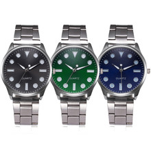 Stylish Casual Wristwatch with Stainless Steel Band and Colorful Dial