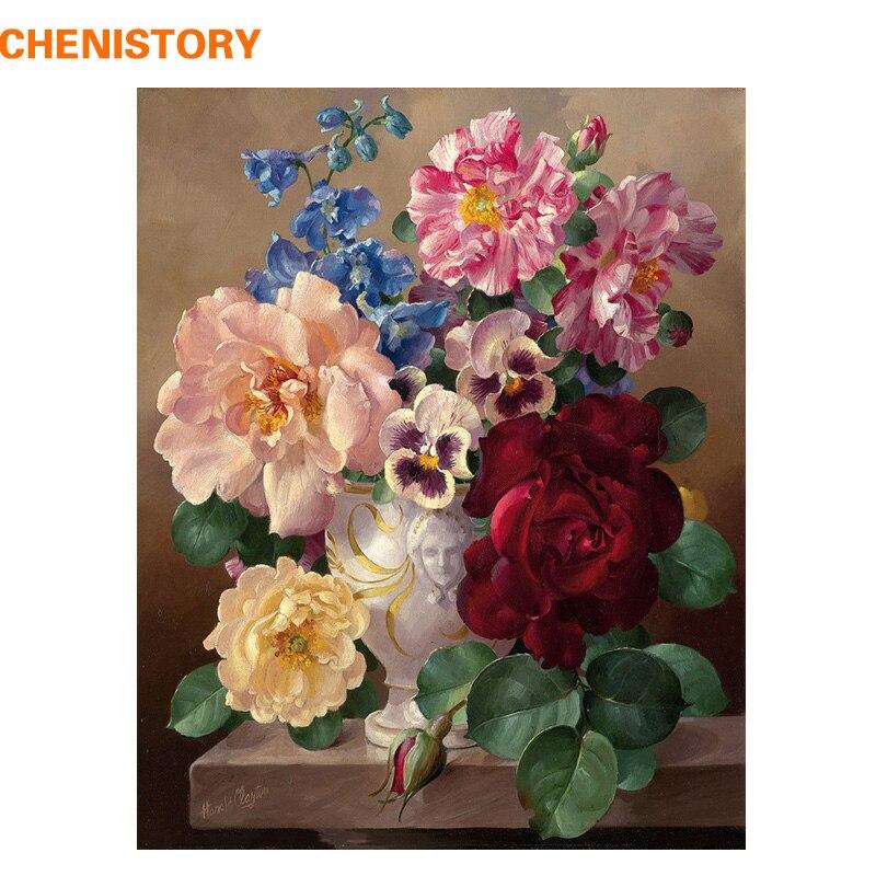 Купить chenistory цветы diy живопись по номерам акриловая каллиграфия