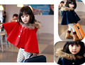 Baby girl cloak coat jacket brand coats and jackets for children balck and red cloak girl england style kids windbreaker