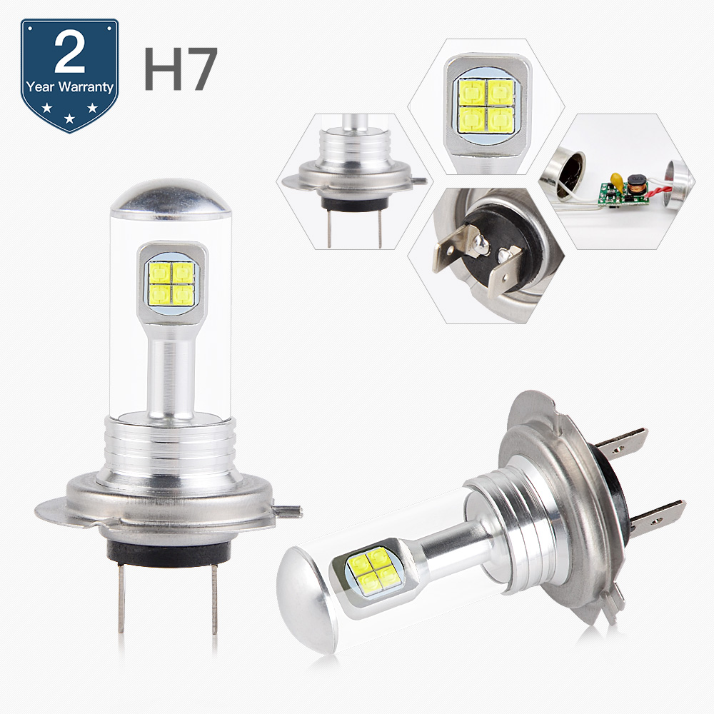 Headlight Bulb H7 Low Beam <font><b>LED</b></font> Lamp For BMW R1200 GS/R/RT R1200GS R1200R <font><b>R1200RT</b></font> R1300R S1000RR F800R K 1300 GT S HP Sport 2010 image