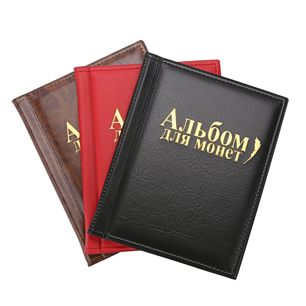 Coin Album 250 Tasche PU Moneta Mondiale Album Libro Case Collection di Immagazzinaggio di Raccolta per Tappi, gettoni, medaglioni, Badg