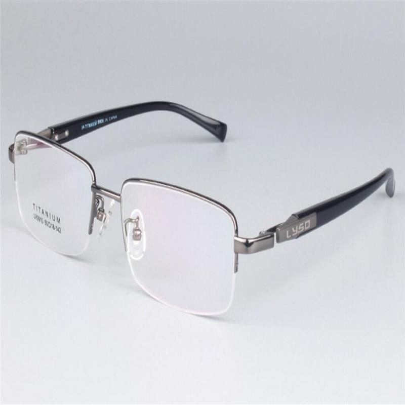 Apparel Accessories Men's Glasses Mongoten Business Men Fashion Alloy Half Rim Aspheric Prescription Lens Optical Eyewear Frame Gold Silver Reading Eyeglasses
