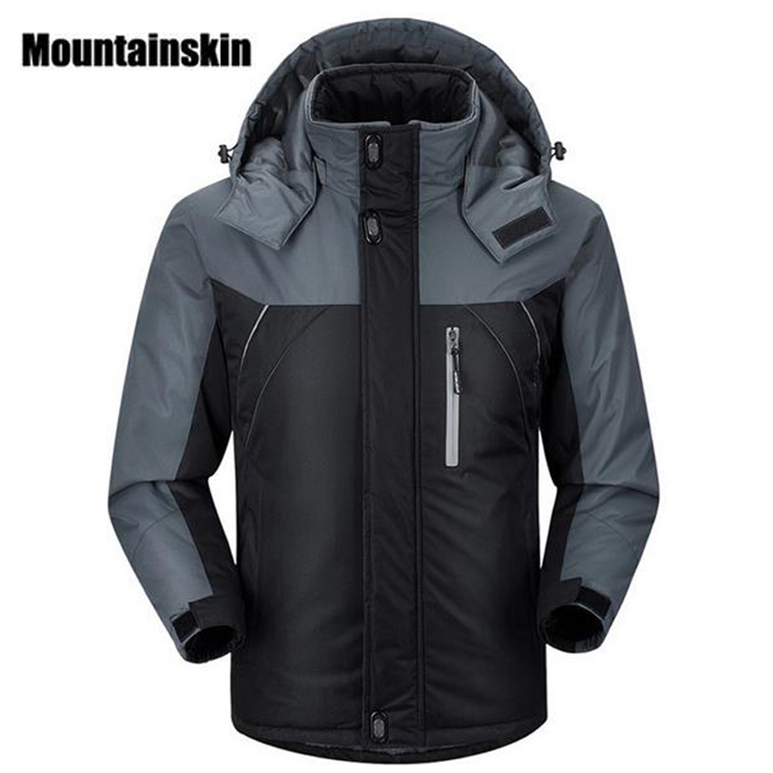 2018 Men's Winter Jackets Mens Thicken Patchwork Outwear Coats Male Hooded Parkas Thermal Warm Plus Size5XL Brand Clothing WA192