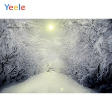 Yeele Winter Landscape Forest Snow Trees Photozone Photography Backdrops Personalized Photographic Backgrounds For Photo Studio