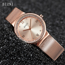 Watch Women BINZI Brand Luxury Watches Business Rose Gold Stainless Steel Ladies Quartz Wristwatch Relogio Feminino