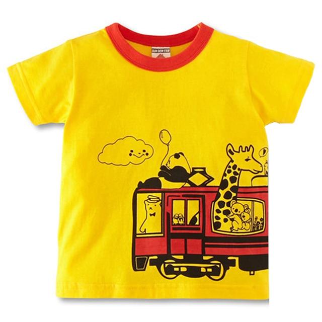 956960a701f97 2016 Fashion Kids Summer Tees Tops Baby Boys Girls T-Shirt High Quality  Creative Cartoon Animal Bus Children's Boy Girl T-Shirt
