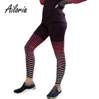 Ailoria 2018 Streetwear Workout Fitness Leggings Women Stripe Pants High Waist Push Up Slim Adventure Time Legging Mujer Jegging