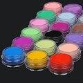 18 Unids Mezcla de Colores de Acrílico del Polvo del Polvo Decoración Set para Extremidades Falsas Del Arte Del Clavo de la Manicura de Acrílico del Polvo De Uñas
