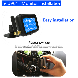 Image 2 - Infitary Good Quality Wirele Truck TPMS With 6 External Sensor Universal Car Tire Pressure Monitoring System Auto Security Alarm