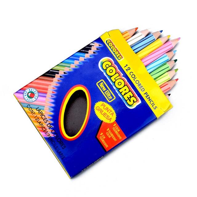 12 Pcs Set Secret Garden High Concentration Mini Color Pencil Painting Wood Pencils Kids Cute