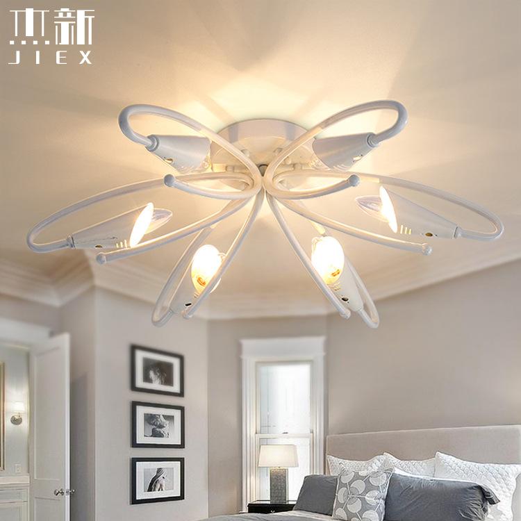 Modern minimalist 6 white LED ceiling lamp theme restaurant kitchen hallway bedroom living room lighting