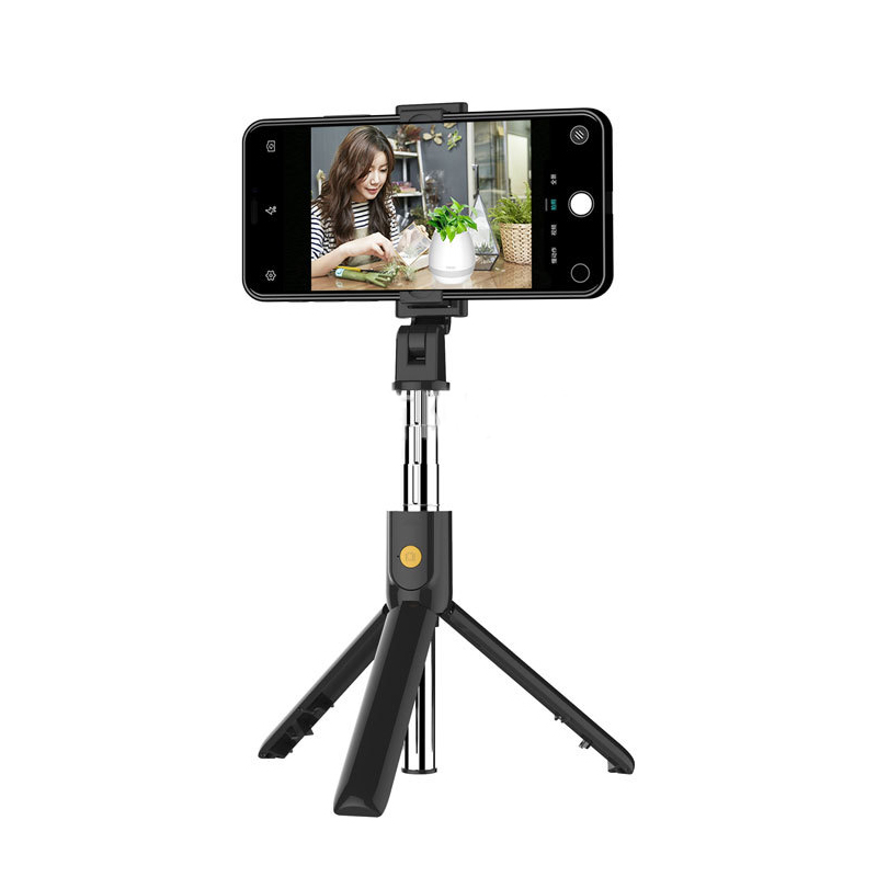 Selfie Stick with Tripod and Wireless Bluetooth Remote Black