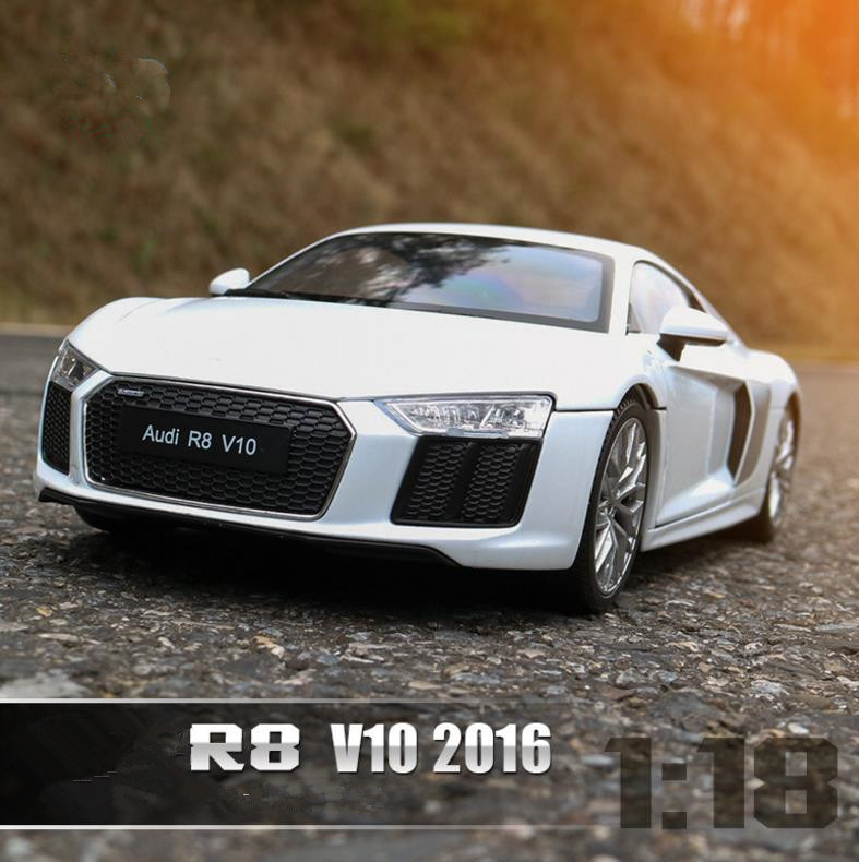 все цены на 1:18 Advanced alloy car toy,High simulation R8 V10 sports car, collection model diecast metal model toy vehicle,free shipping онлайн