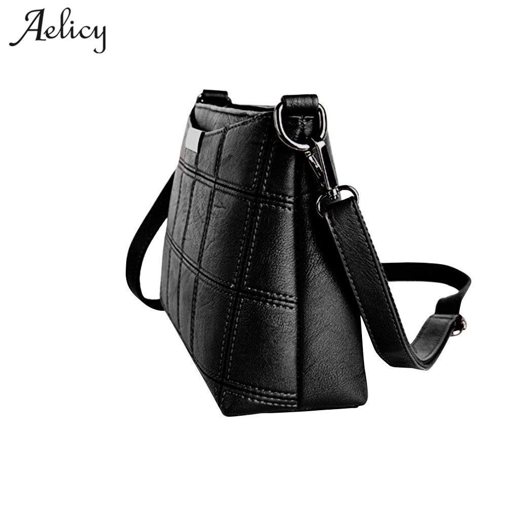 Aelicy Messenger Bag Women Handbag Cross body Leather Plaid New Fashion Woman Crossbody Bag Female PU Leather Sac a Main 2