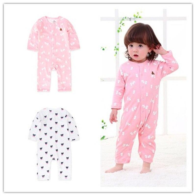 2018 baby's Baby meisje kleding lange mouw romper pasgeboren overalls - Babykleding - Foto 2