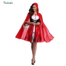 New Little Red Riding Hood Costume Queen Dress Vestido Halloween Cosplay Uniform Adult Cosplay Costume party Dress Plus Size XXL halloween new little red riding hood costume castle queen