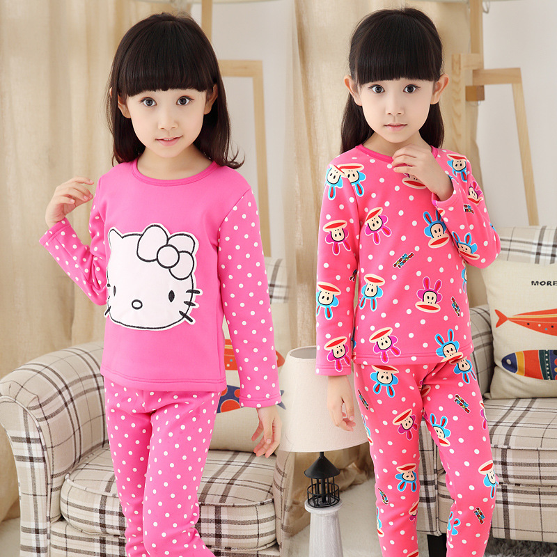 8a8a33488 Girls' Fleece Lined Pajama Set Hello Kitty Clothing Sets Baby Girl Winter  Clothes Christmas Pyjamas 1195-in Pajama Sets from Mother & Kids on  Aliexpress.com ...