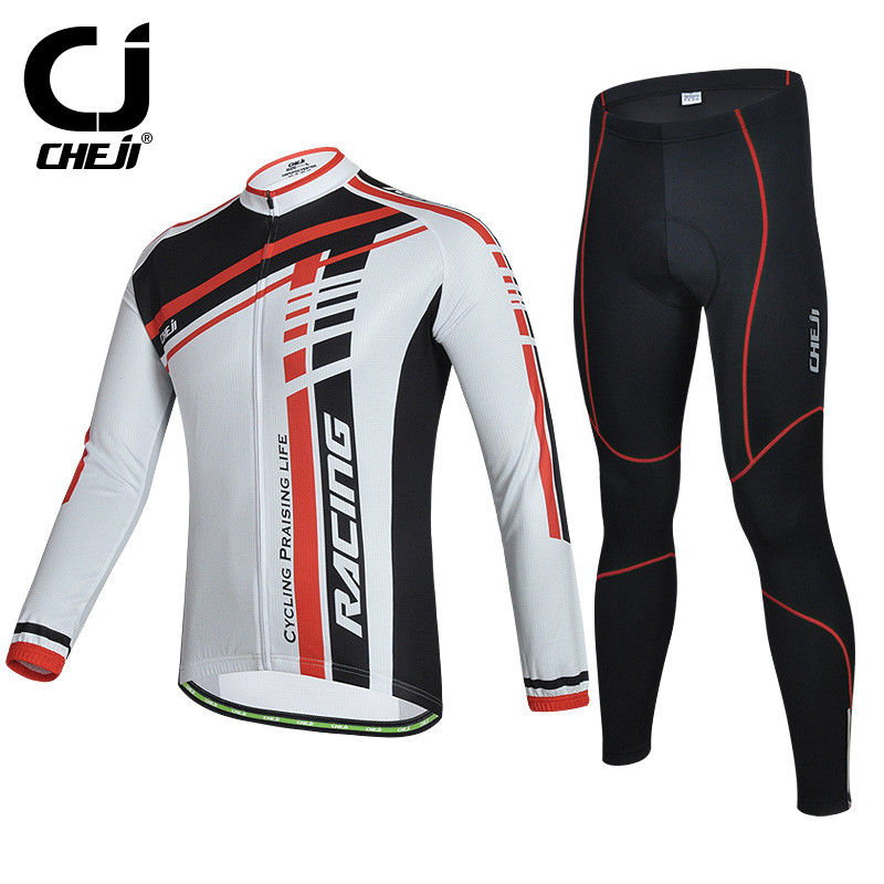 Cheji Winter Pro Racing Bike Team Cycling Jersey Long Sleeve Bicycle Cycling Clothing Quick Dry Bike Wear Ropa Invierno Ciclismo veobike cycling jersey ciclismo 2017 pro team 8 style men s winter long sleeve bike set mtb bicycle wear ropa ciclismo invierno