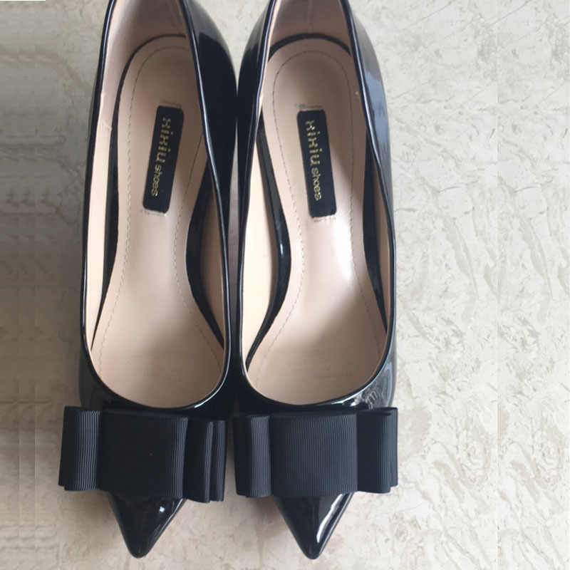 SENTCHARM 1 çift düz renk ilmek basit moda ayakkabılar aksesuarları kadınlar için yüksek topuklu loafer'lar ofis veya dış