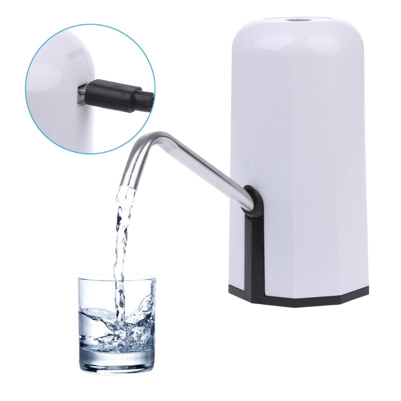 цена MEXI Automatic Electric Portable Water Pump Dispenser Gallon Drinking Bottle Switch USB Water Dispenser Home Kitchen Appliance в интернет-магазинах