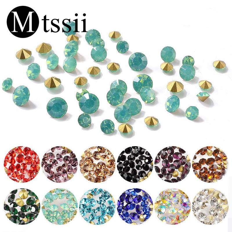 Aliexpress Com Buy 1440pcs Gold Bottom Crystal Clear: Aliexpress.com : Buy Mtssii 1 Pack Mixed Nail Art Colorful