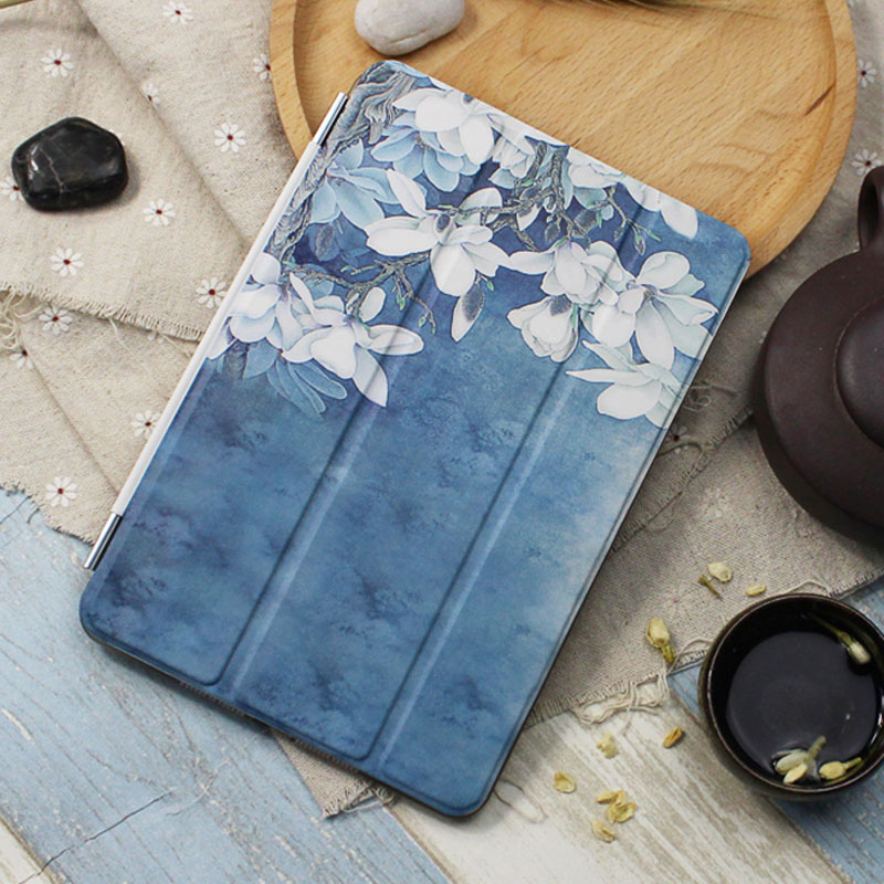 Case for Ipad Mini 4 Orchid Series Auto Sleep /Wake Up Flip PU Leather Case for Ipad Mini 4 Smart Stand Cover
