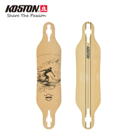 KOSTON Pro Longboard Deck With 8ply Canadian Maple Hot Air Pressed Drop Through Long Skateboard Decks