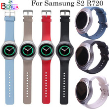 For Samsung Gear S2 R720 watch strap Replacement Silicone Solid color sport watchband Straps smart