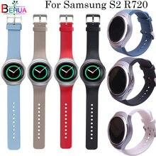 Para samsung gear s2 r720 pulseira de relógio substituição silicone cor sólida esporte pulseiras para samsung engrenagem pulseira relógio inteligente