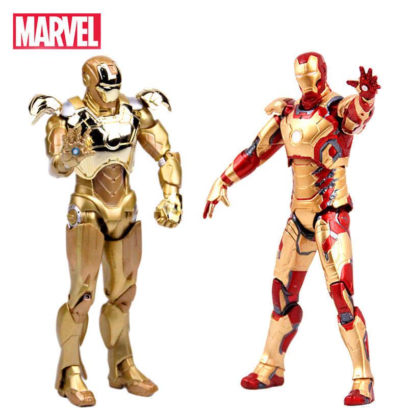 """С принтами """"Marvel"""", """"Мстители Железный человек фигурку модель MK42 MK43 MK21 с принтом «Железный человек», коллекция куклы ПВХ фигурка игрушки в подарок на день рождения для детей"""