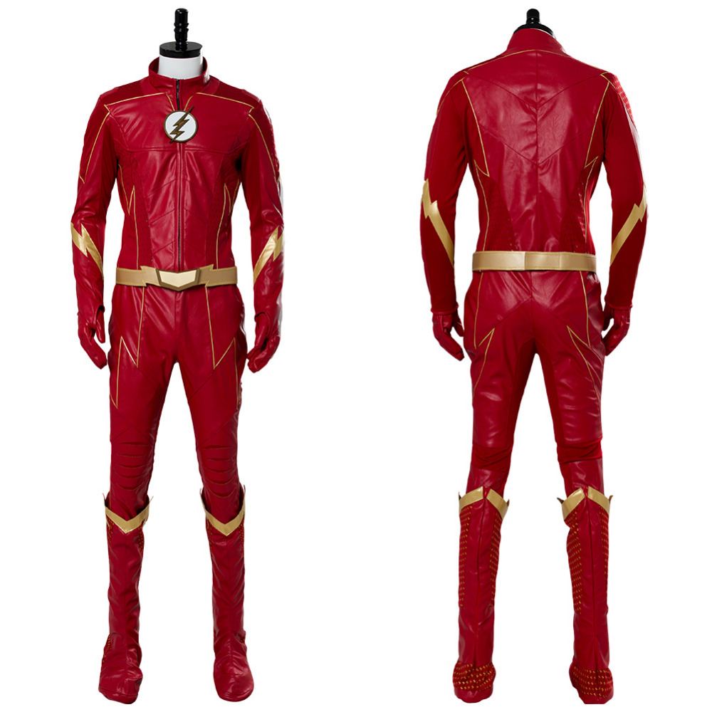 The <font><b>Flash</b></font> Season 4 <font><b>Barry</b></font> <font><b>Allen</b></font> <font><b>Flash</b></font> Cosplay <font><b>Costume</b></font> Adult Men <font><b>Barry</b></font> <font><b>Allen</b></font> Mask Red Outfit Halloween Cosplay <font><b>Costume</b></font> image