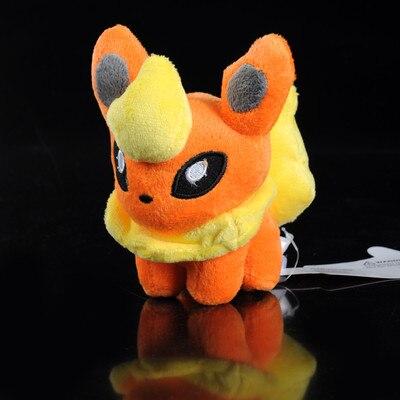 NEW TOMY Pokemon Pikachu 6 FLAREON Plush Figure Doll Toy Gift chiaro паула 4 411011605