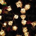 Batería LED Cadenas de Luz Día de Boda del Amor de Rose Flor Color Guirnaldas Festival Fiesta Decoración Del Jardín. Luces Lumiere ramo Rosa