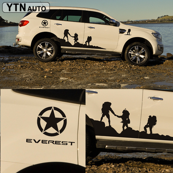 side body sticker climb styling protect scratch graphic vinyl car sticker custom for ford everest 2015