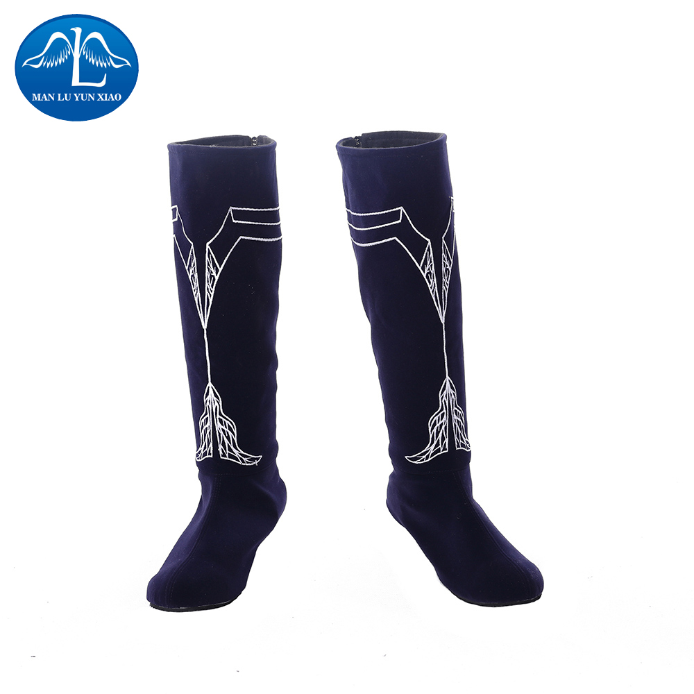 New Arrival Chinese Movie L.O.R.D: Legend of Ravaging Dynasties 2 Cosplay Men Halloween Qi La Cosplay Boots Free Shipping