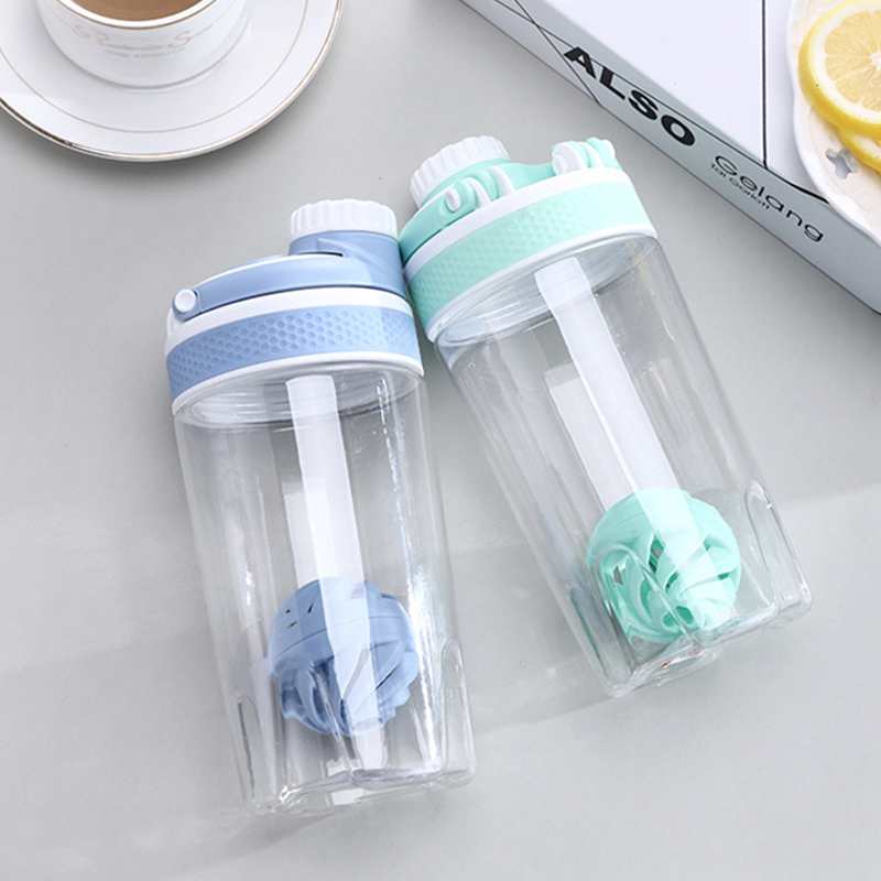 Girls 550/700ml Sport Protein Shaker Bottle BPA Free Water Bottle for Gym Fitness Cycling Portable Protein Shaker Bottle image