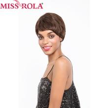 Miss Rola Hair Brazilian Straight Hair #2/4 Short 100% Human Hair Wigs for Black Women Whole Manchine Free Shipping