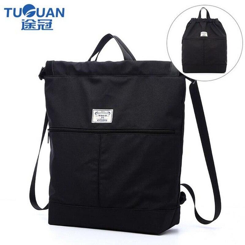 все цены на TUGUAN Multipurpose Canvas BackPack Women Men Black Casual Travel backpack School Bag For Teenage Boys Girls Tote Bag Rucksack онлайн