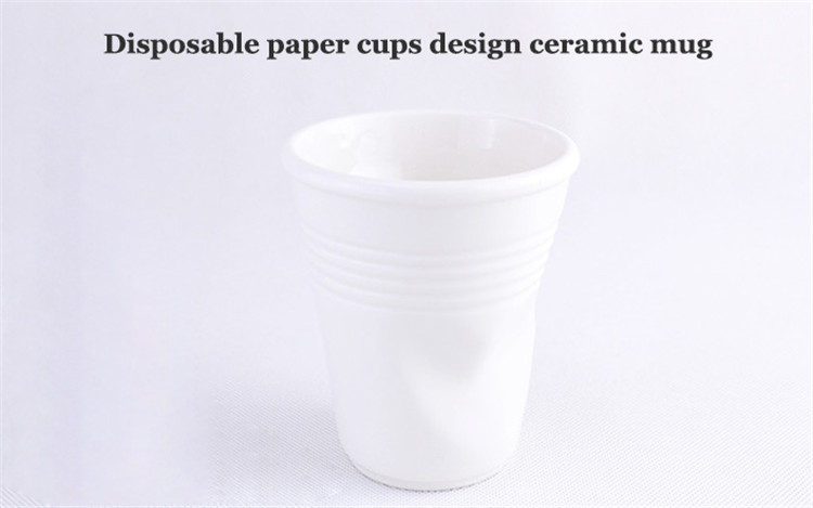 disposable paper cups design personalized plain white ceramic funny coffee party mugs tea mug drinkware